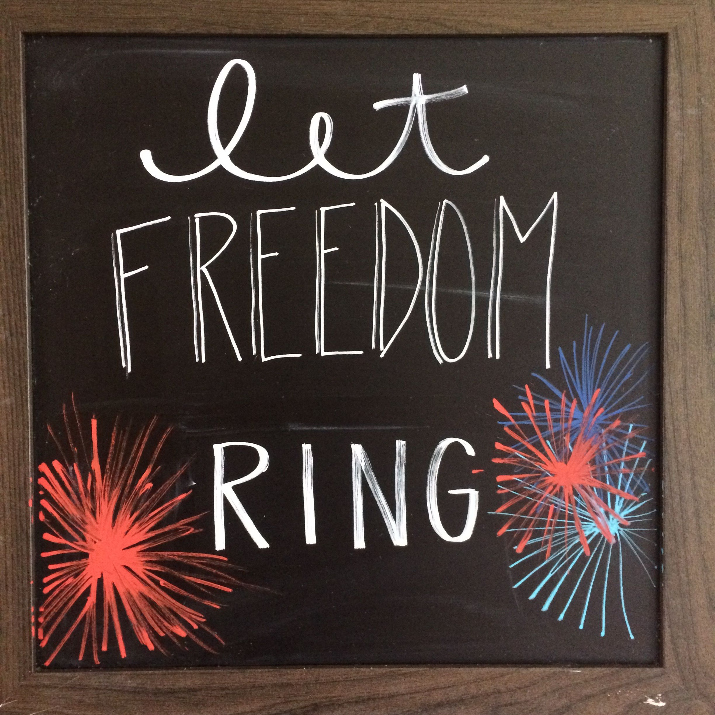 Chalkboard diy art. Patriotic. Fourth of July. Independence day ...