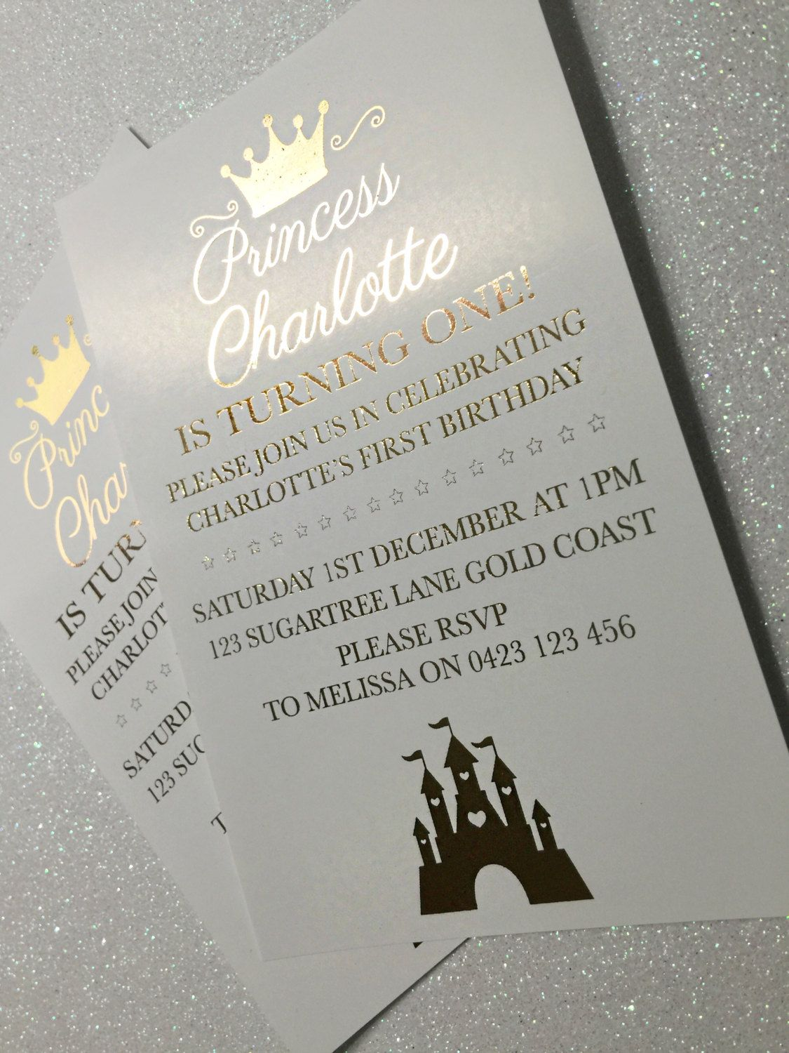 First birthday invitations 1st birthday gold foil invitations first birthday invitations 1st birthday gold foil invitations christening invitations princess invitation monicamarmolfo Image collections