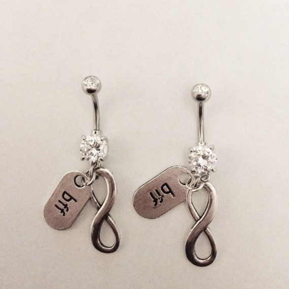 bff infinity best friends belly ring set by