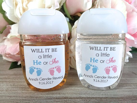 Gender Reveal Party Favor Labels Gender Reveal Ideas Hand