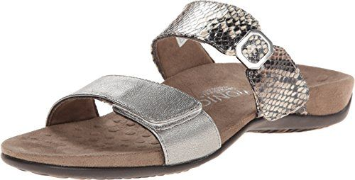 687076ed1b4a3 Vionic 341CAMILAPW Camila Women Open Toe Synthetic Slides Sandal  PewterNatural Snake 11 BM US   Want to know more