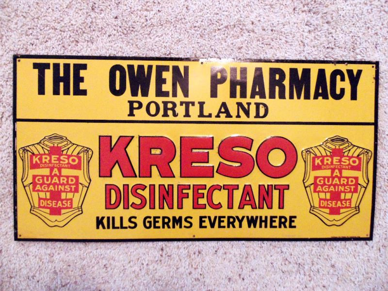 VINTAGE PHARMACY SIGN This wonderful old sign is embossed with bright rich colors, and in amazing condition! Starting bid: US $198.88