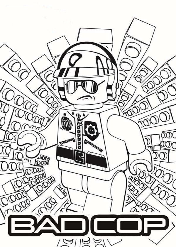 Bad cop lego movie coloring pages 11 different characters emmet benny wyld style uni kitty vitruvius lord business metal beard