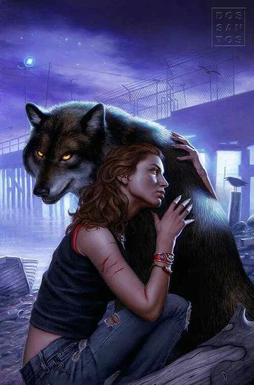 Hunting Ground (Alpha and Omega/Charles and Anna) novel cover art by Dan Dos Santos