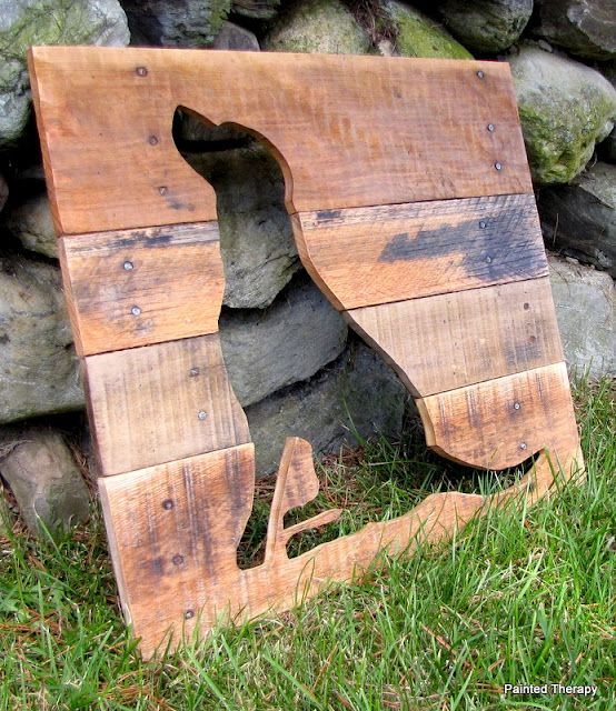 Painted Therapy Reclaimed Wood Animal Friend Silhouettes Woodworking Projects That Sell Woodworking Projects Wood Animal