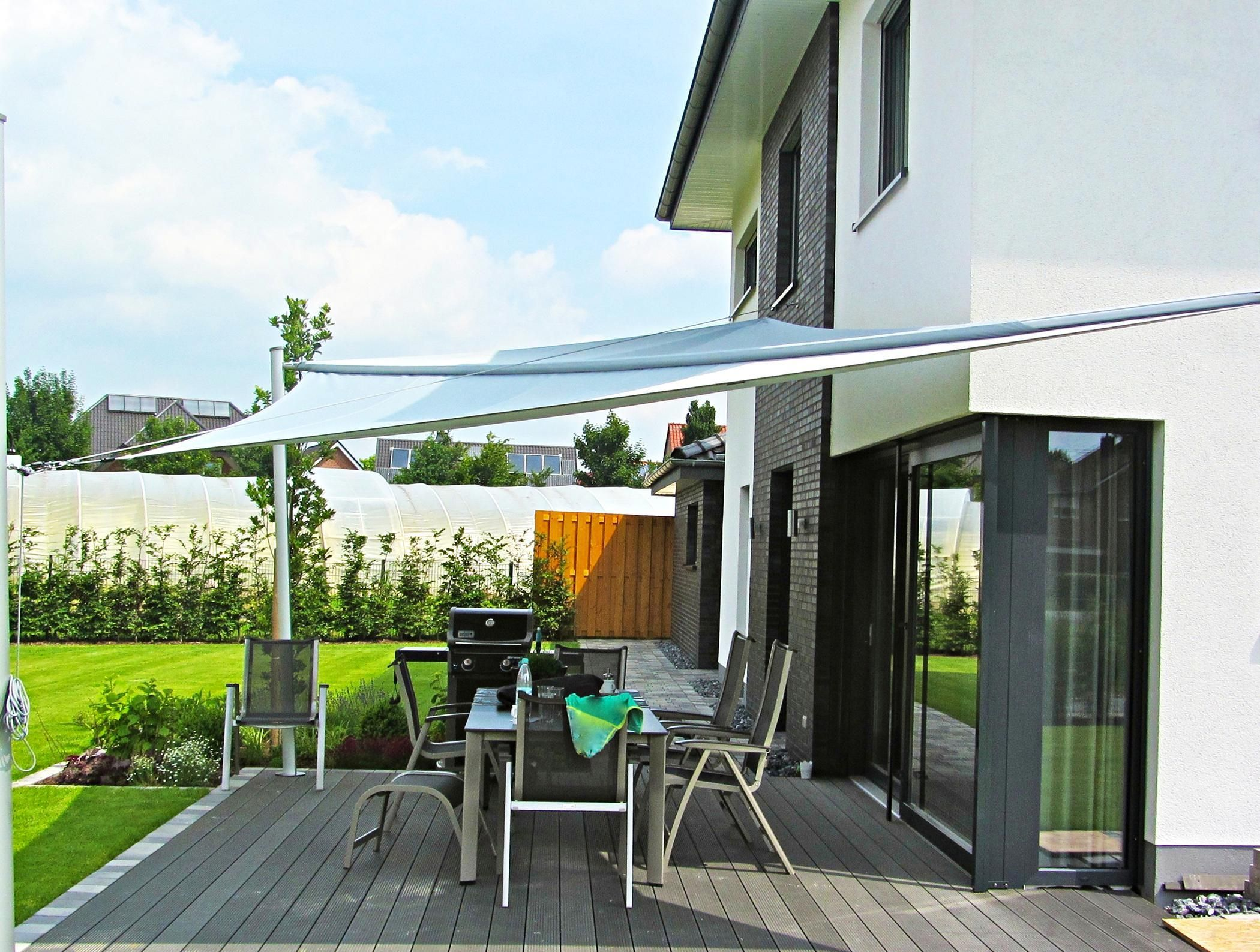 Sonnensegel für die Terrasse terrasse gartenmöbel