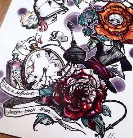Tattoo Sleeve Alice In Wonderland Beautiful 20+ Ideas