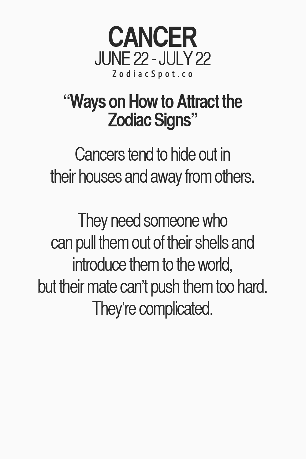 Cancer Sign Quotes Astrology How To Attract Cancer  All About Me  Pinterest