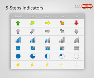 free kpi indicators powerpoint template is a simple slide design, Powerpoint templates