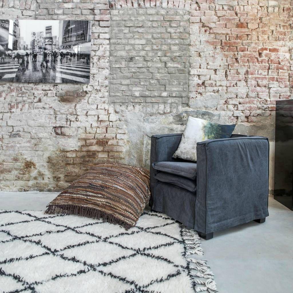 stilvoll wolle berber teppich hk living mit fransen an den seiten der teppich hat einen. Black Bedroom Furniture Sets. Home Design Ideas