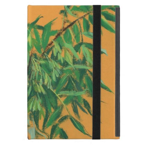 Ash-tree, green yellow summer greenery floral art cover for iPad mini