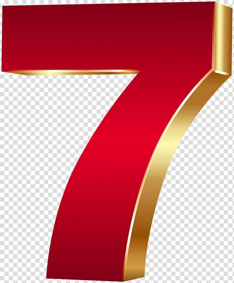 Red And Gold 7 Illustration Red 3d Number Seven Red Gold Transparent Background Png Clipart Transparent Background Clip Art Red And Gold