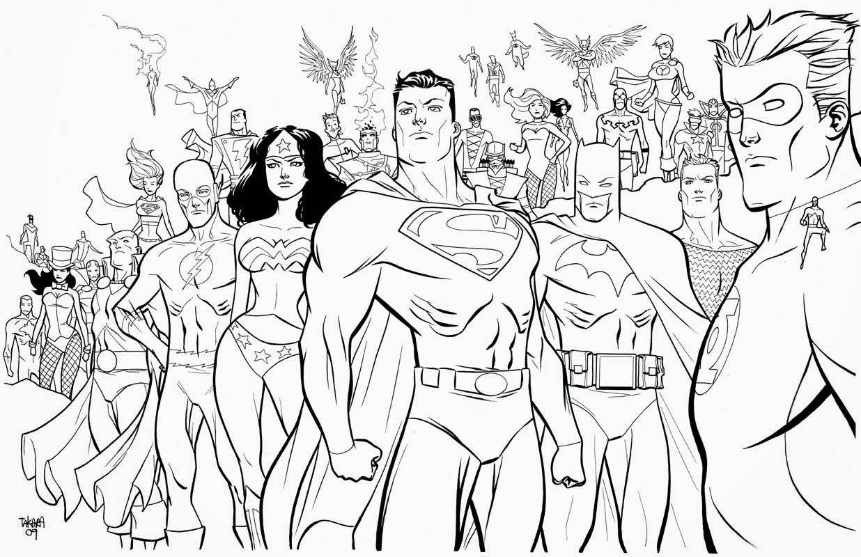 superhero coloring printouts : Superhero Coloring Pages Badass