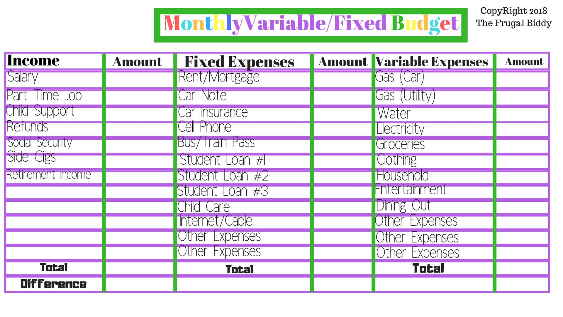 39 Innovative Budget Worksheet Design