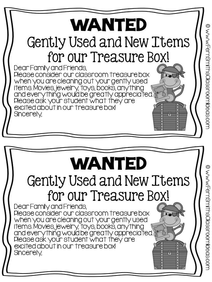 Fern Smithu0027s FREE Parent Letter For Treasure Box Items Fern - fresh example letter to request donation