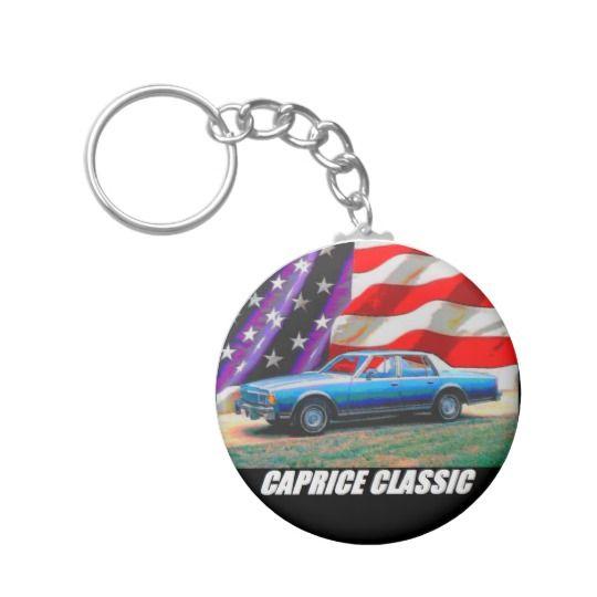 1977 Caprice Classic Sedan Basic Round Button Keychain