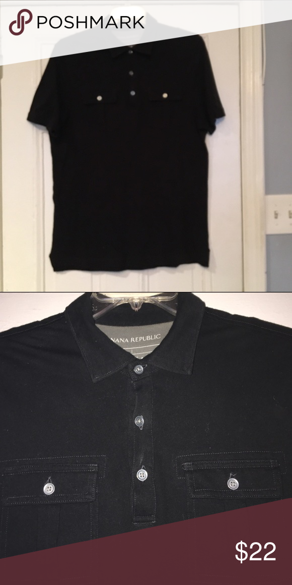 e9b522af2 3 button polo with 2 pockets on either side with metal buttons. Soft and  stretchy. Good quality and condition. Banana Republic Shirts Polos