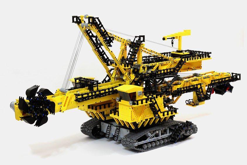 4 Foot Long Lego Technic Er 1250 Bucket Wheel Excavator Video