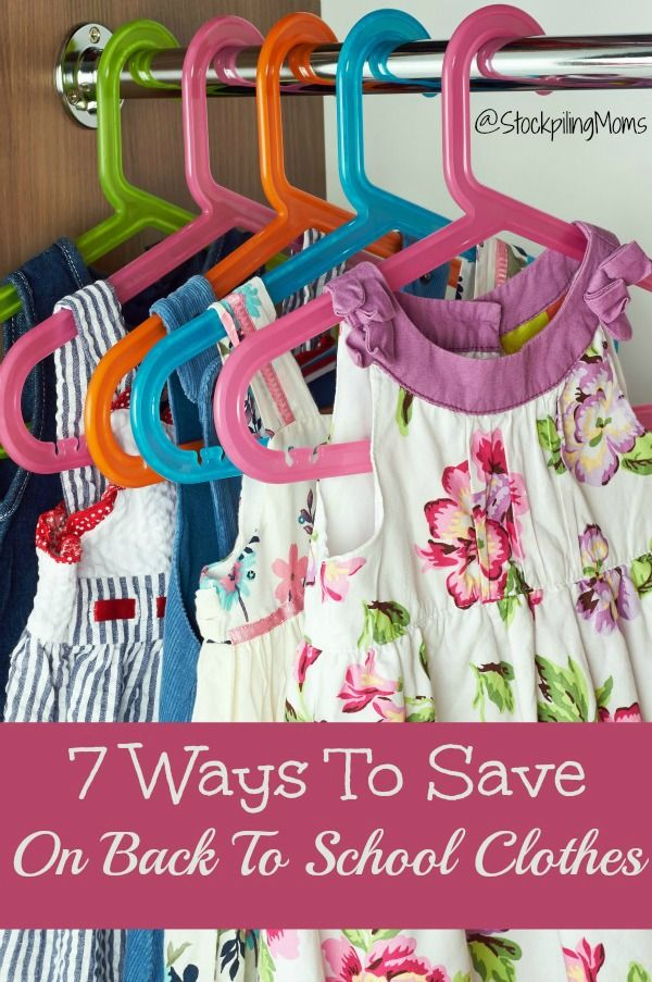 7 Ways To Save On Back To School Clothes is part of Cheap School Clothes - Back To School Shopping season is officially here, and many families are struggling to make ends meet while providing their kids with all the supplies and clothing needed  Since savings is our speciality, we have come up with 7 Ways To Save On Back To School Clothes  These are tried and true methods that have saved our families money in the past, and we know can fit within any budget  Even if you only have a few dollars to spend this year on your kids clothing, we can help you manage to grab a great new wardrobe that will be