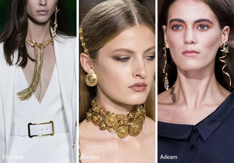 Spring Summer 2018 Accessory Trends Gold jewellery Spring summer