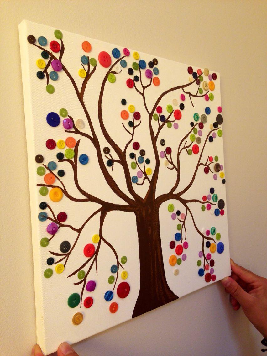 tableau que j ai r 233 alis 233 avec des boutons creativity bricolage craft and creativity