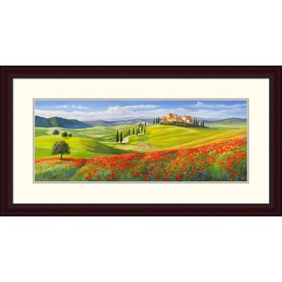 Global Gallery 'Verso il borgo in Toscana' by Adriano Galasso Framed Graphic Art