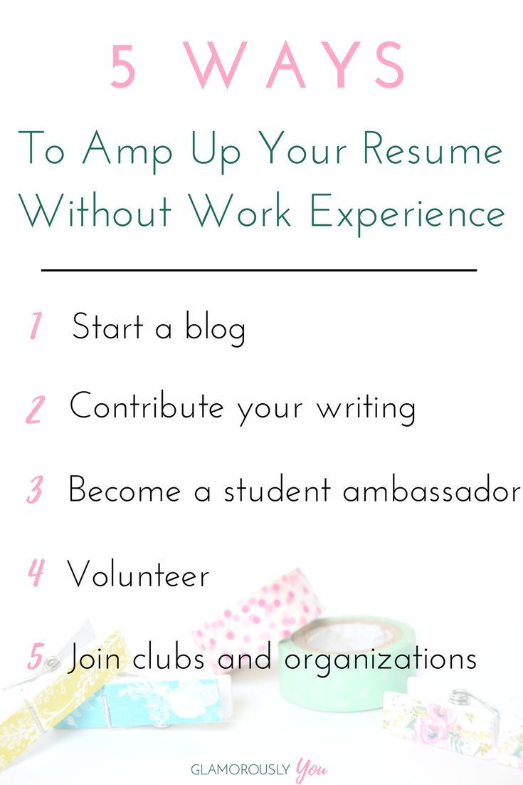 Resume Without Work Experience How To Amp Up Your Resume With No Work Experience  Student Resume