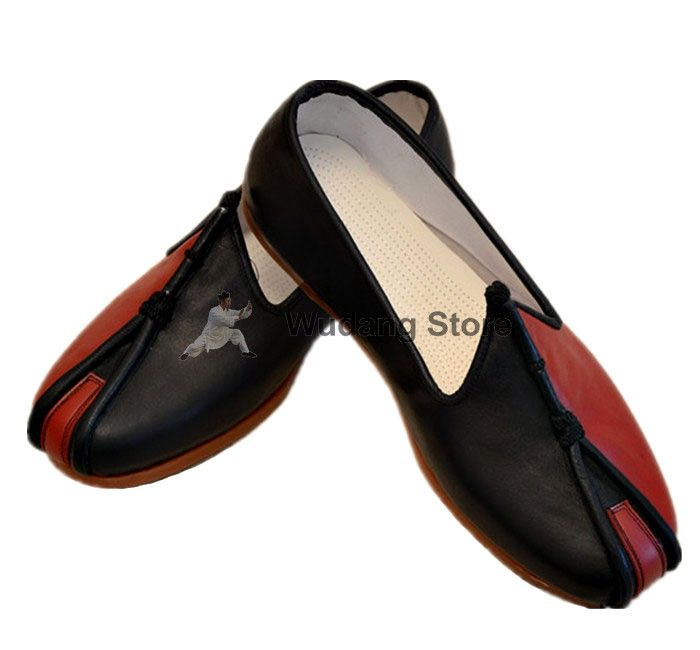 847908d56 Traditional Beijing Black/Red Leather Sole Tai Chi Shoes [All Sizes ...