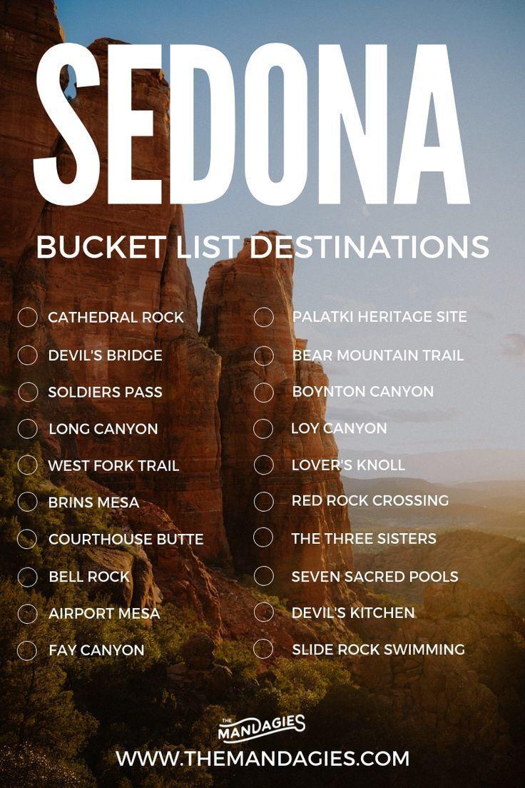 Sedona Bucket List Destinations