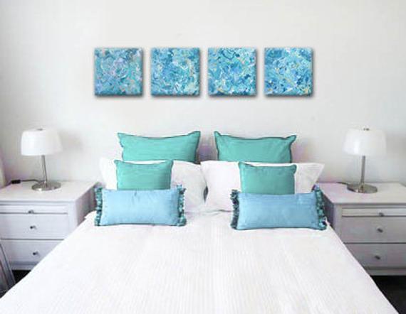 Best Sale Original Sea Foam Green Painting On Canvas 12X12 400 x 300