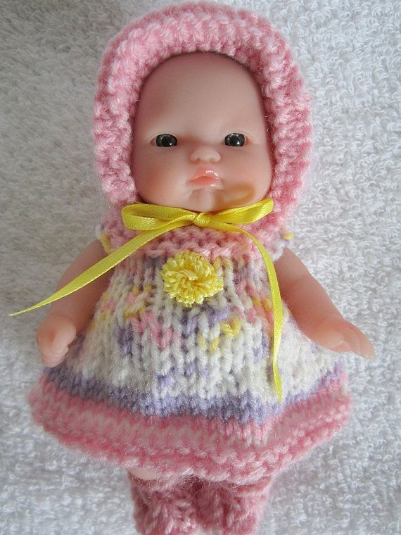 Knit Baby Doll Clothes Berenguer Pretty for Spring Dress for chubby ...