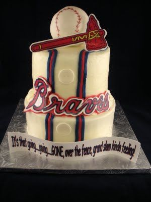 Atlanta Braves Cake Heck Yes Its That Going GoingGONE Over The Fence Grand Slam Kind Of Feeling