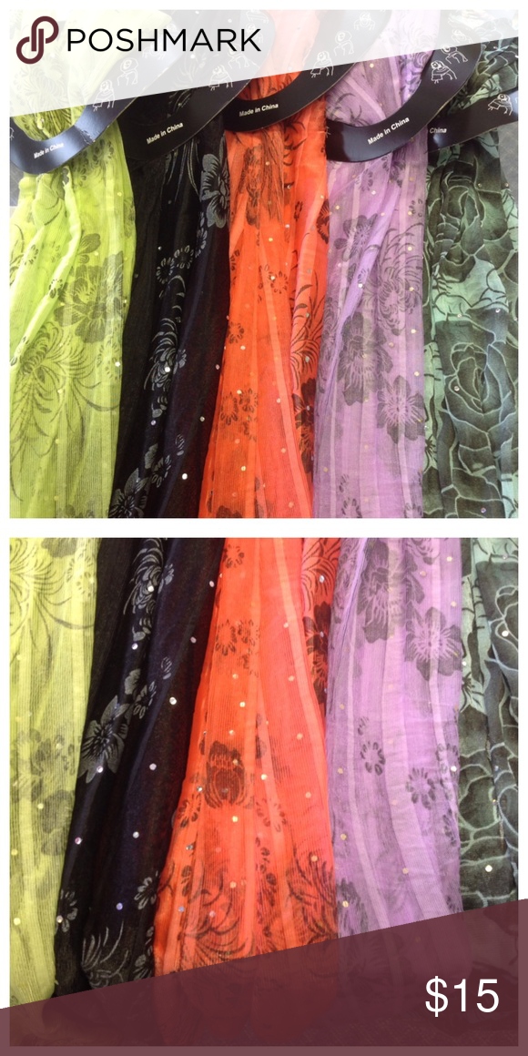 Beautiful Scarf Set Here is a beautiful set of 5 scarves. Brand new. Accessories Scarves & Wraps