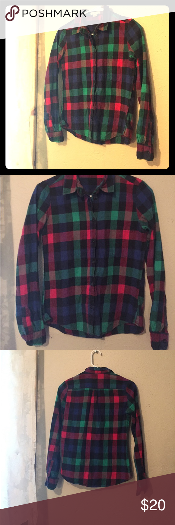 Button up flannel shirts  Plaid long sleeve flannel button up  Pinterest  Flannels Plaid