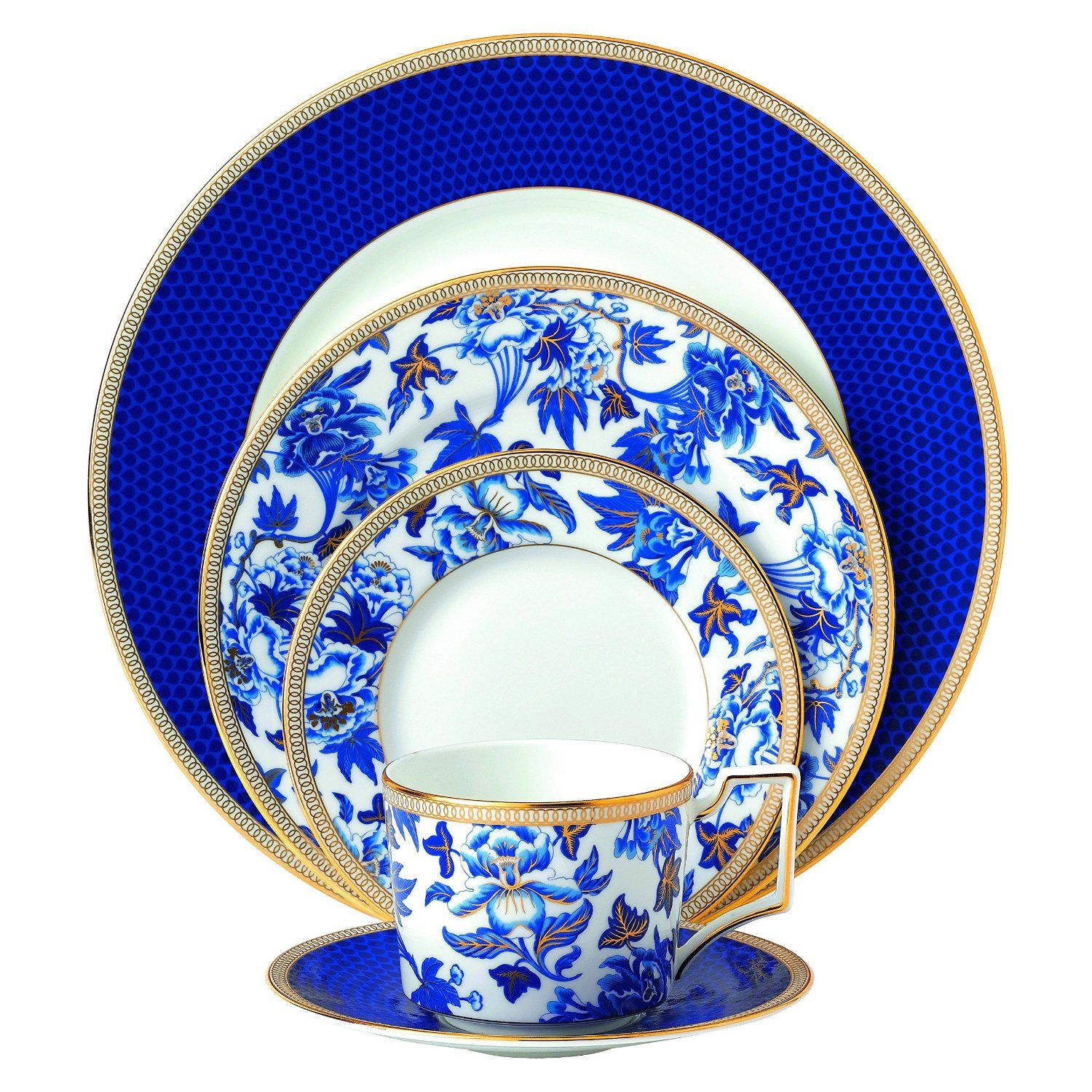 Amazon.com | Wedgwood 5-Piece Hibiscus Place Setting Set Dinnerware Sets  sc 1 st  Pinterest : wedgwood casual dinnerware - pezcame.com