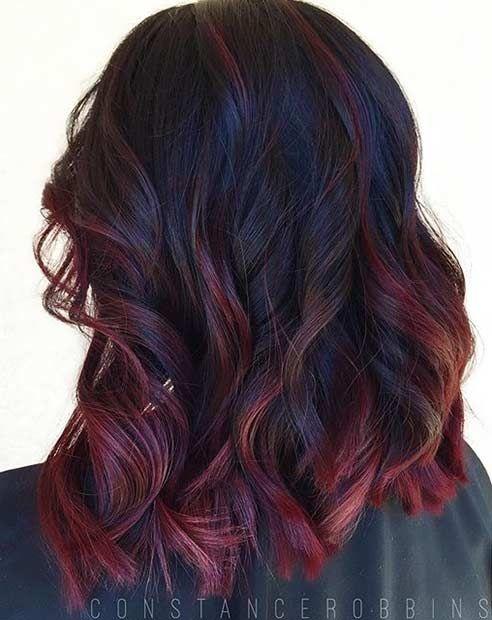 21 Amazing Dark Red Hair Color Ideas Colores De Pelo Moreno Color De Cabello Cabello Tenido
