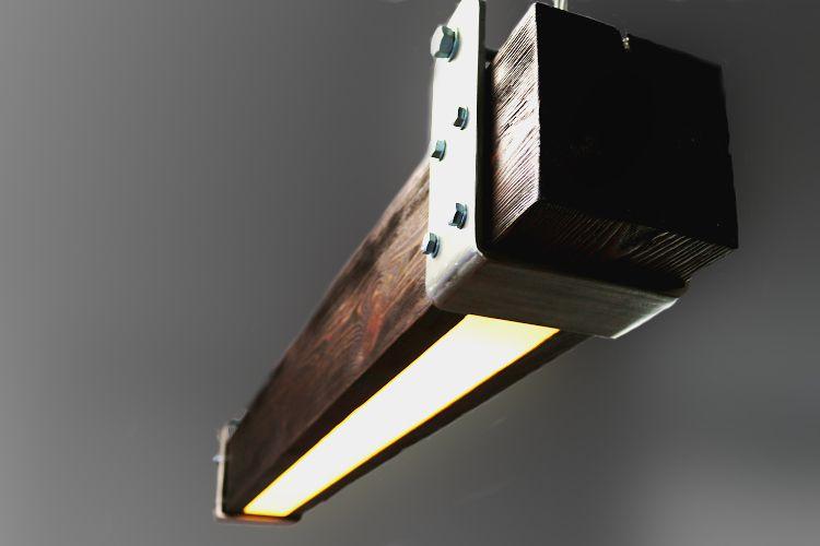 750 Pln Lampa Belka Ciemny Braz Lamp Wykonana W Kazdym Detalu Recznie Drewno Szczotkowane Bejcowane I Lakierowane Stalowe Masywne Obrecze Lamp Wood Decor