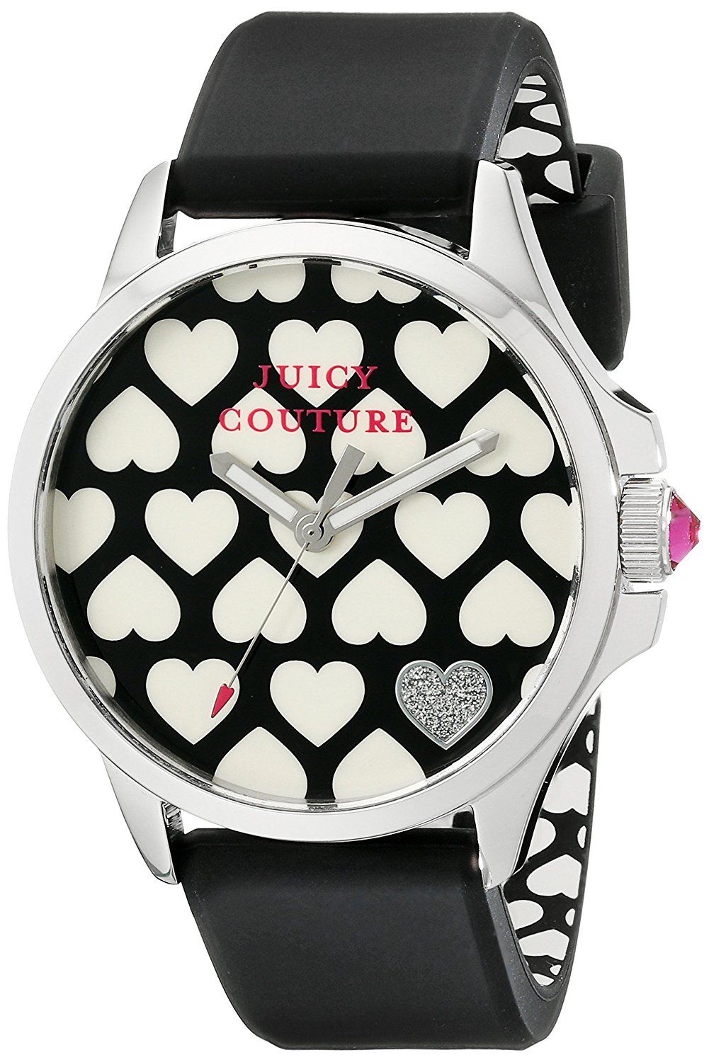 Juicy Couture Womens watches, Black and white heart