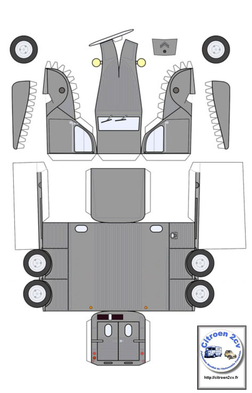 maquette vehicules en carton pinterest maquettes 2cv et voitures. Black Bedroom Furniture Sets. Home Design Ideas