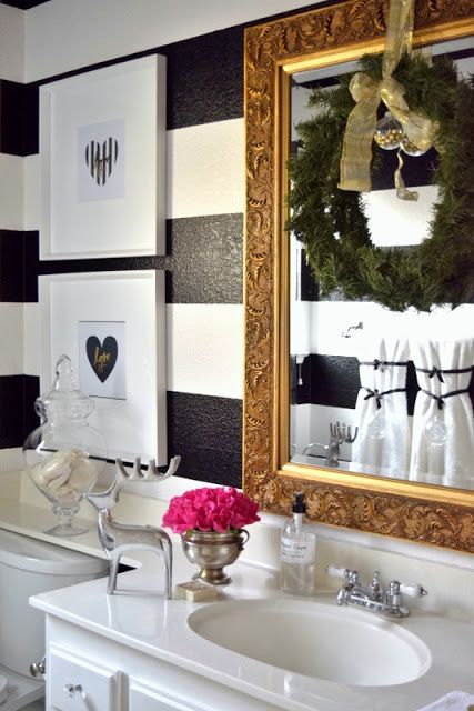 There's nothing like adding a holiday touch around your home. This mirror and wreath from HomeGoods make the perfect combination for the upcoming holiday (sponsored pin) 2015 CHRISTMAS HOME TOUR - PART I