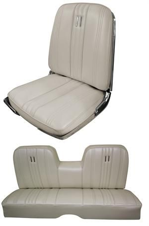 Ford Galaxie Interior Parts Seat Upholstery 1965 Galaxie 500xl 500 Seat Cover Front Rear Set Ford Galaxie Custom Car Interior Galaxie