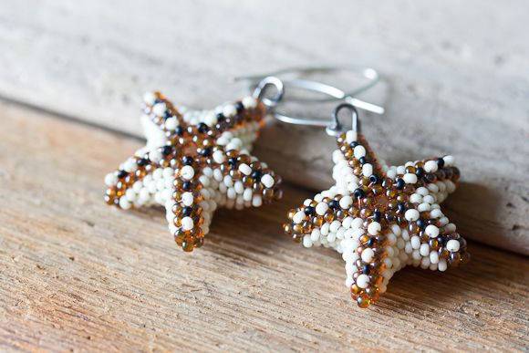 Driftwood Stacked Beaded Starfish Earrings Vb Did Earrings
