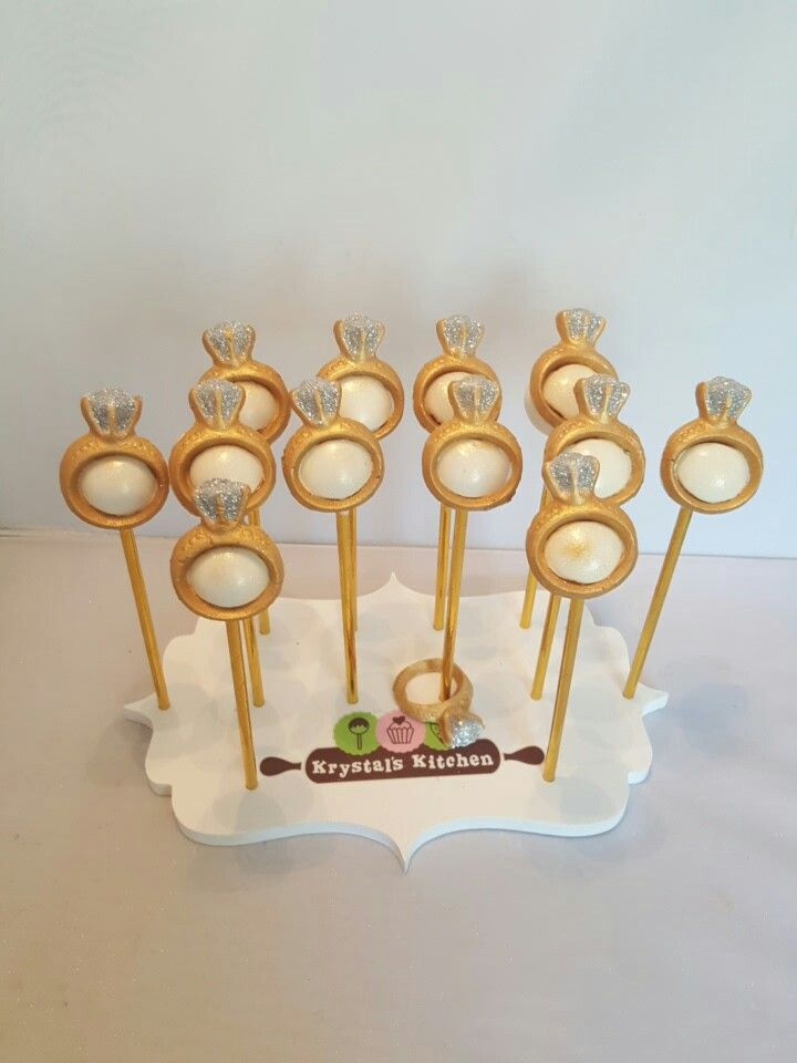 Bridal Shower Diamond Ring Cakepops With Images Wedding Cake