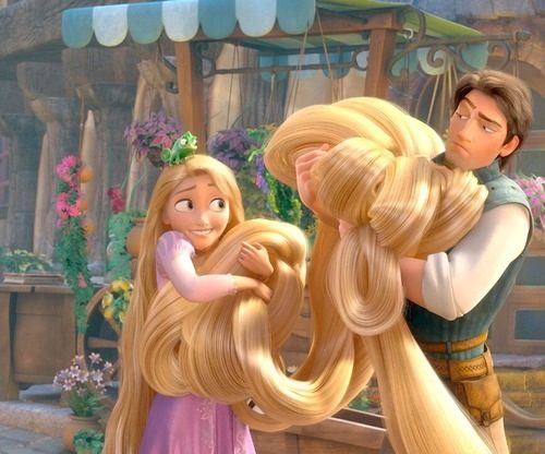 """Haha Eugene's face is just like """"really?! I can't stand your hair@ and rapunzel is just like """"oh well!"""""""