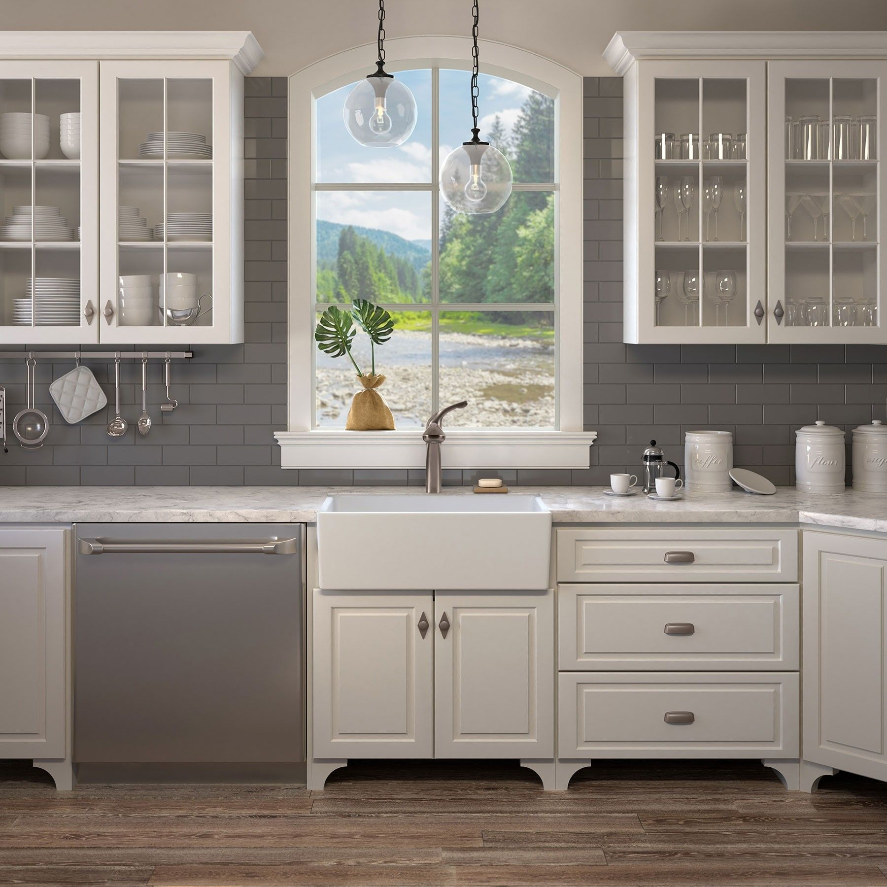 Surrey 30 Inch Fireclay Farmhouse Kitchen Sink Kitchen Apron Sink Remodeling Farmhouse Sink Kitchen Kitchen Style Kitchen Cabinets