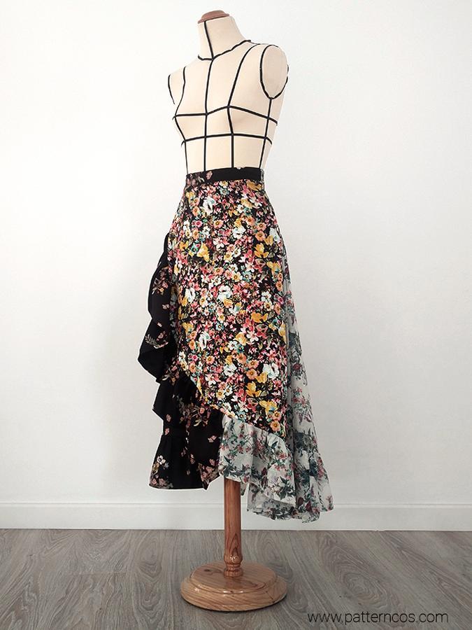 fac9575e1 Cómo hacer una falda cruzada con volantes | Moda y tutoriales DIY ...