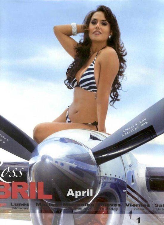 Calendario Play Boy.Aeromozas Mexicanas Playboy Mexico Abril 2011 El