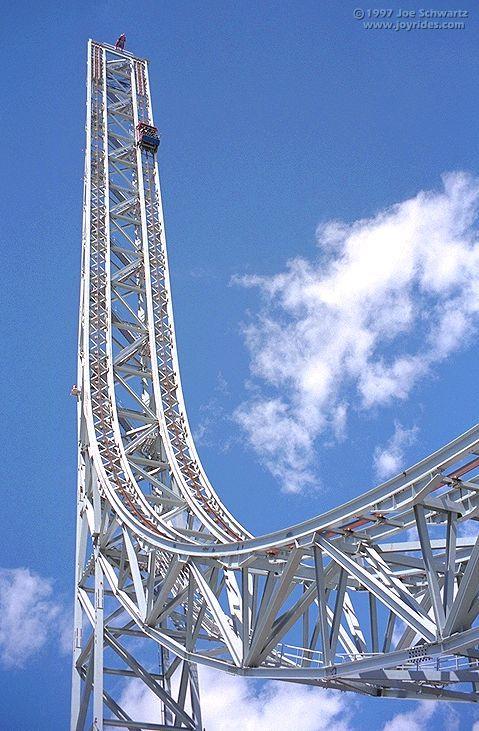 Superman Escape From Krypton Six Flags Magic Mountain Valencia California Usa Scary Roller Coasters Roller Coaster Ride Amusement Park Rides
