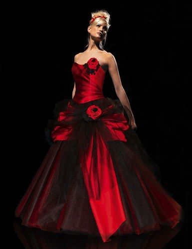 Herve mariage robe rouge