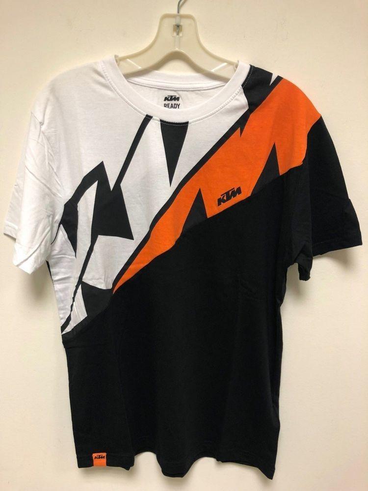 d7c86ab068a 2018 KTM Racing Motorcycle MX SX Radical Sliced Tee T-Shirt S M L 2XL NEW